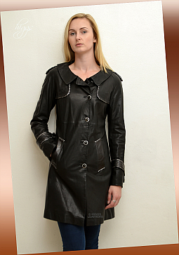 Higgs Leathers ALL SOLD  Deetya (ladies Designer Leather Trench coat)